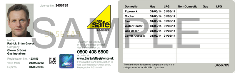 Gas Safe Identity Card